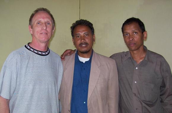 Dan with Pastor Alain and Dr. Harison